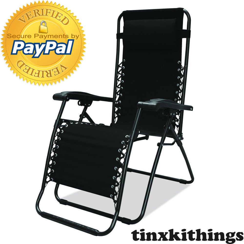 Outdoor Reclining Chair Camping Portable Seat w Adjustable Head  Rest Recliner  lightning delivery