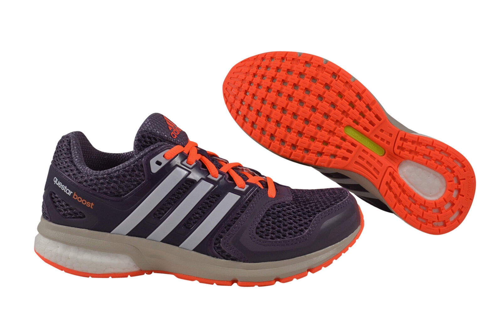 Adidas Questar Boost daSie lila Orange Trainers schuhe b33468