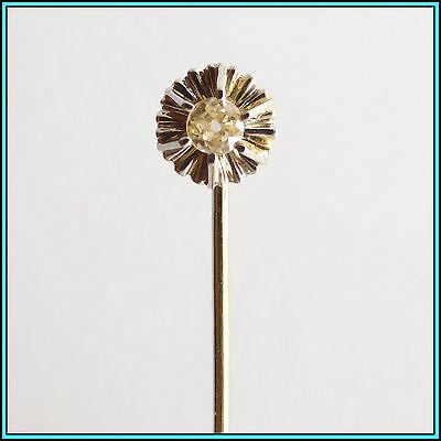 VINTAGE PLATINUM PIN with a DIAMOND 0.08 carats