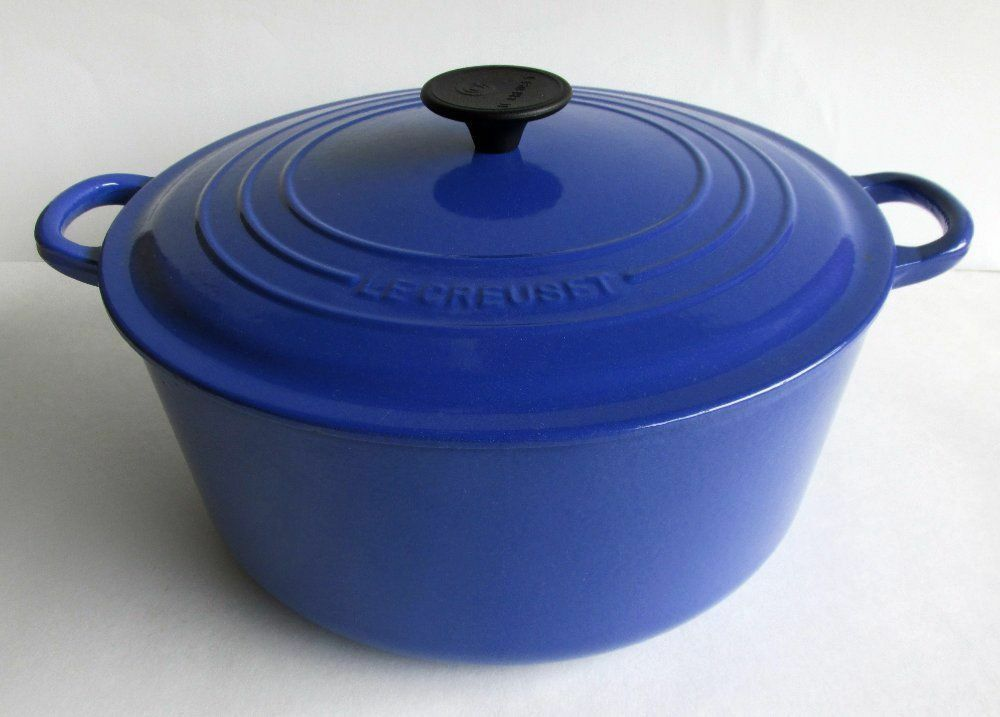 LE CREUSET  13.25 QT   Round Dutch Oven    Cobalt bleu    NEW   In Original Box