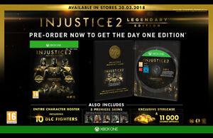 L-039-INGIUSTIZIA-2-XBOX-Leggendario-Edizione-Steelbook-ONE-Xbox-One-con-Microsoft-DLC-NUOVO