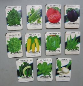 EMPTY 5B 20 cent Wholesale Lot of 250 Old Vintage Vegetable SEED PACKETS