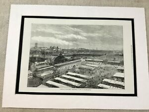Antique-Print-Royal-Agricultural-Society-Show-Wolverhampton-1871-Victorian-Art