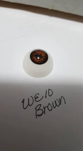 24mm Pabol WE10 Brown Reborn Doll Eyes Acrylic half round FAST SHIPPING