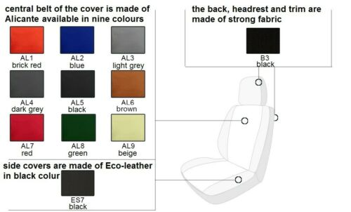 VOLKSWAGEN T6 2015 ONWARDS ECO LEATHER /& ALICANTE SEAT COVERS MADE TO MEASURE