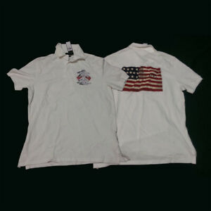 POLO Ralph Lauren Men Size M AMERICANA Shirt White USA Flag NWT $145