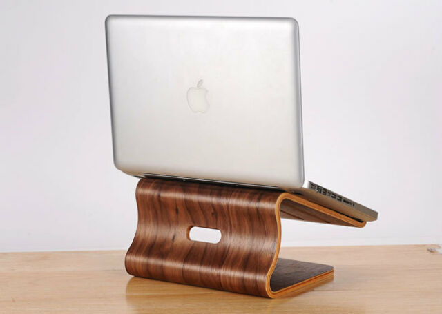 Universal Wooden Cooling Stand Dock for MacBook Pro Retina Laptop Brown 3883HC