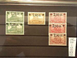 LUXUS Briefmarken Deutsches Reich Mi.Nr.: 116-118 a+b+c . Postfrisch. KW 217?