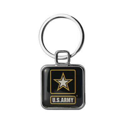 Iraq Campaign Veteran Ribbon Display Design Faux Leather Key Ring