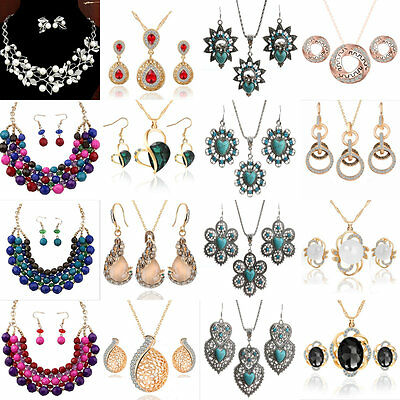 New Women's Korean Individuality Pendant Earrings Necklace Hot Jewelry Set