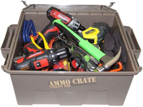 """MTM ACR8-72 Ammo Crate Utility Box with 7.25/"""" Deep Large Dark Earth"""