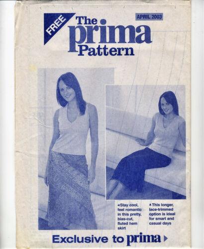 Retro Boho SWIRLY SKIRTS Bias or Flared Prima Sewing Pattern 10 12 14 16 18 20