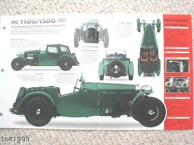 Hrg 1100/1500 Spezial Folie Broschüre/prospekt 1939,1940