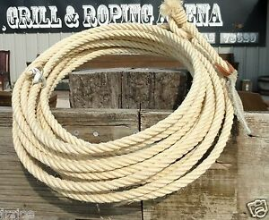 ONE-New-38-feet-SADDLE-RODEO-REAL-MAGUEY-ROPE-LASSO-LARIAT-BullWhip