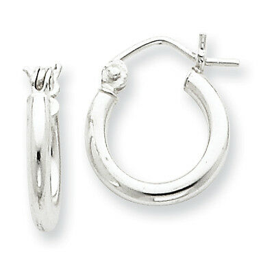 925 Sterling Silver Rhodium Plated Textured Post Hoop Earrings 12mm x 20mm