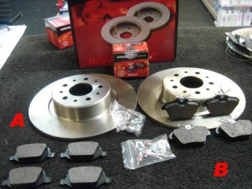 ALFA 156 TS JTD TS V6 MINTEX REAR BRAKE DISCS & PADS