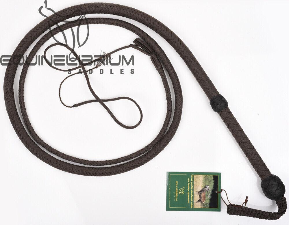 10 pies 16 Trenzas marrón Indiana Jones Estilo disparo de nylon cargado látigo de toros