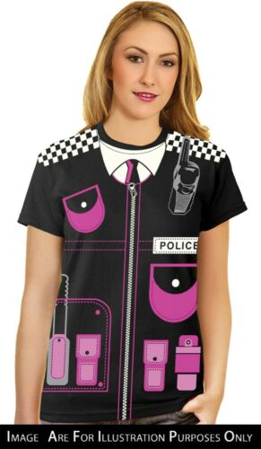 Mens Police Ladies Police Printed T-Shirt Fancy Dress Costume Stag Do Party New