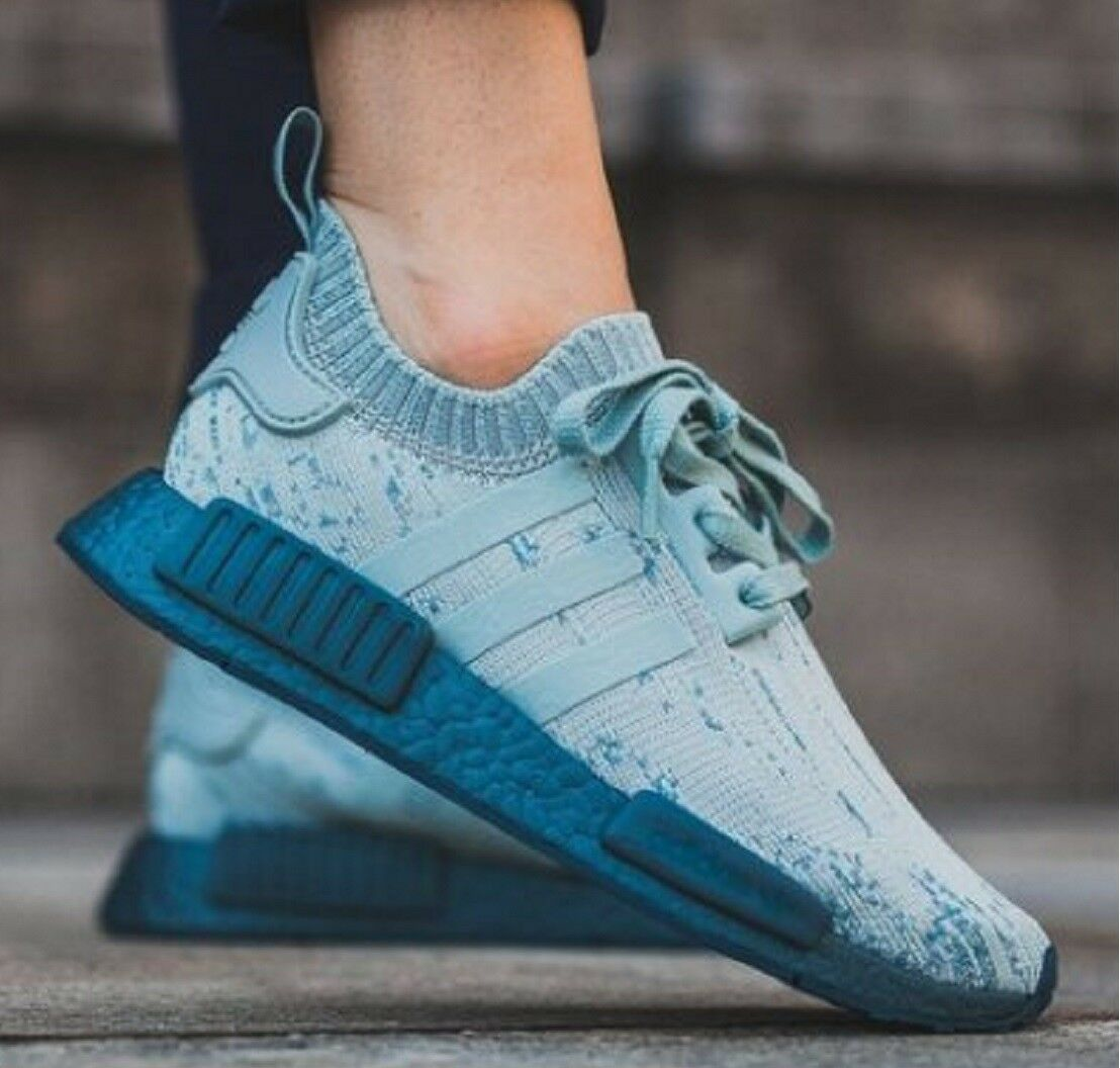Adidas NMD R1 Primeknit Sneakers Women's Running Lifestyle Shoes