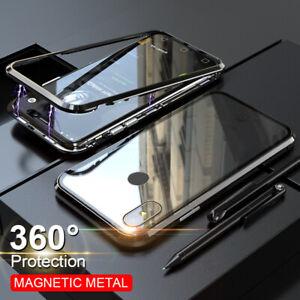 Per-Xiaomi-Redmi-Note-9S-8T-8-VETRO-TEMPERATO-adsorbimento-Magnetico-Cover-Custodia-PC
