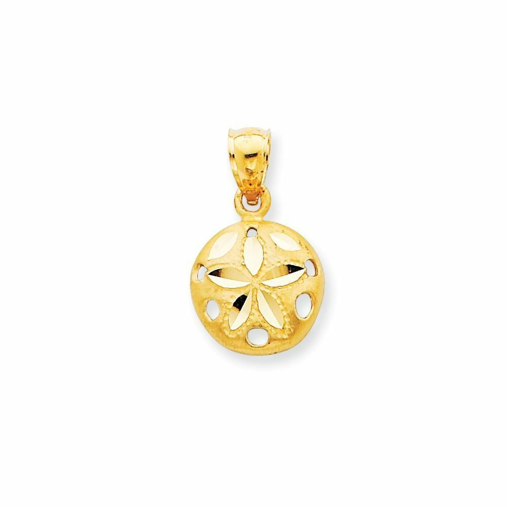 14K Yellow gold Sand Dollar Charm Pendant MSRP  199