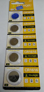 5-Pack-CR1616-3v-Lithium-Batteries-Coin-Cell-50mAh-Exp-2021