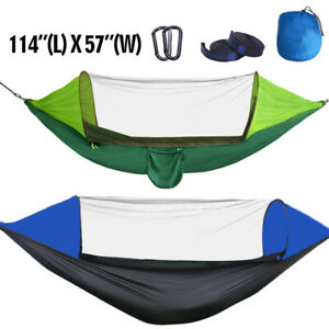 2-Person Tent Camping Hammock Bed Mosquito Net Rain Sun Cover Portable Windproof
