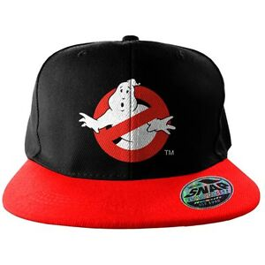Official ghostbusters no ghost logo embroidered red and for Logo cappello rosso