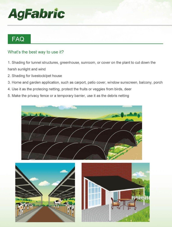 Agfabric SDR301020B Sun Shade Mesh for Garden Plant Cover