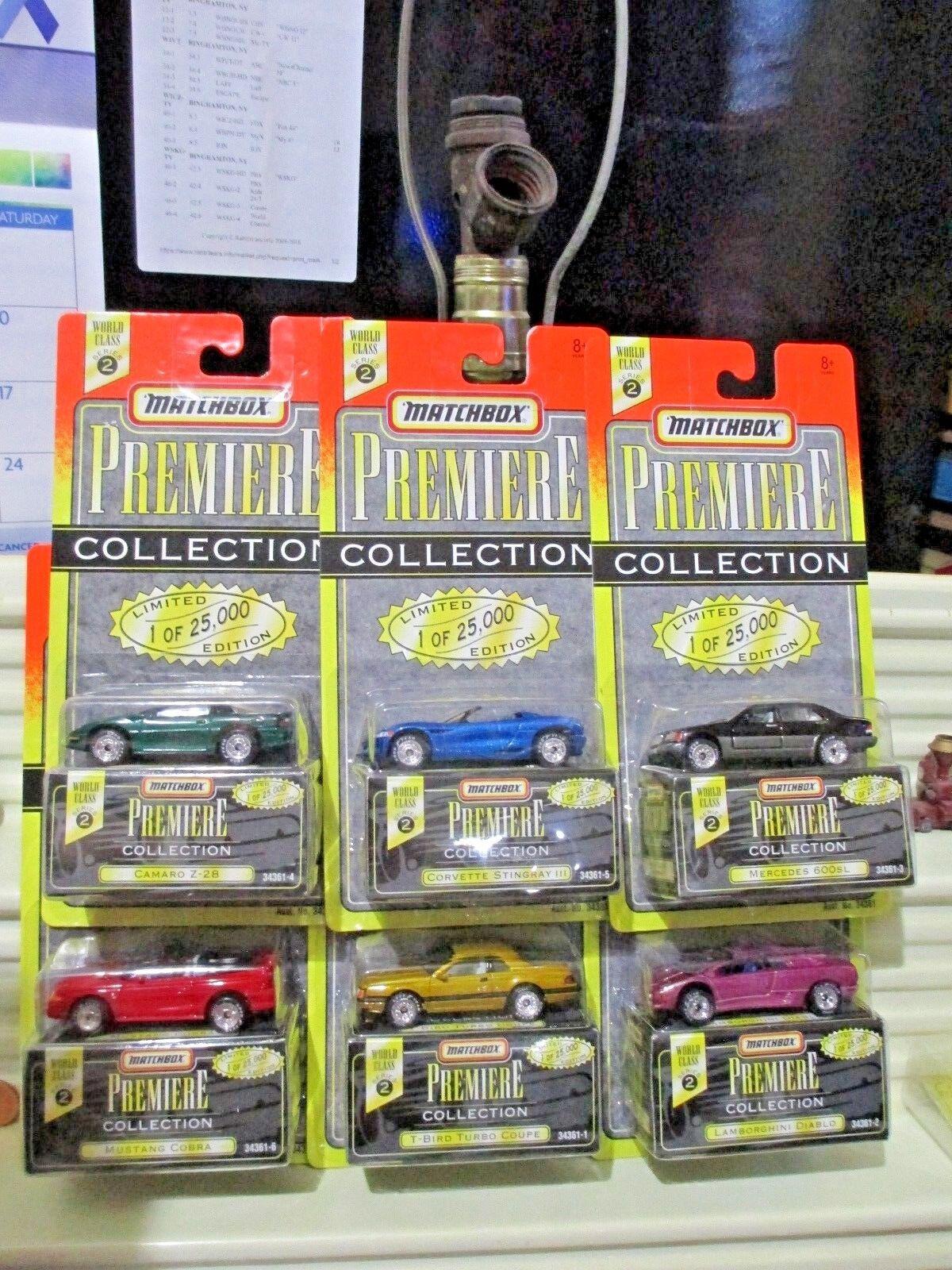 precios al por mayor Matchbox 1995 1995 1995 Premiere World Class  2 modelos de seis nuevo como nuevo en perfecto burbuja paquetes  solo cómpralo