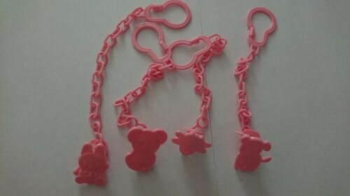 Pink Baby Dummy Pacifier Soother Chain Clip Buckle Holder Pacifier Chain