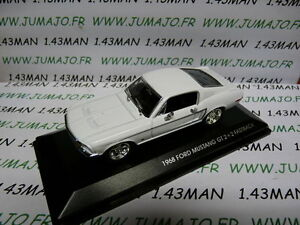 voiture-1-43-ROAD-SIGNATURE-Ford-mustang-GT-2-2-1968-fastback-blanche