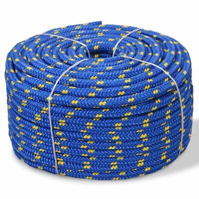 100m bleu corde polypropylene poly cordage 12mm plusieurs tailles et couleurs