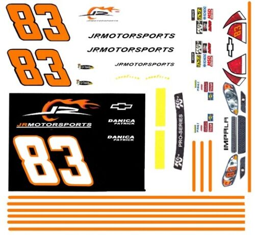 #83 Danica Patrick JRMotorsports Chevy 2010 1//64th HO Scale Slot Car Decals