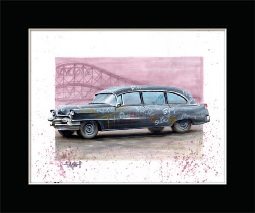 The ROGUES HEARSE from THE WARRIORS Art Print By Billy Tackett
