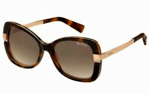 New Max Mara Layers 1/s Havana Ivory 56mm Women Butterfly style Sunglasses