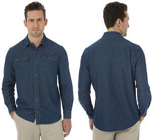 Vintage Classic Jean Shirt Wrangler New Ebay Blue Authentic Denim Mens Rx7f0Z