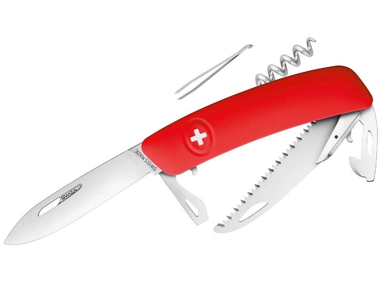 SWIZA Taschenmesser Taschenmesser Taschenmesser D05 Stahl 440 Sicherheitsarretierung Anti-Rutsch-Griffschale 291604