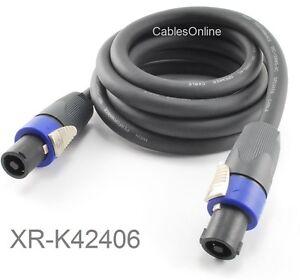 Kirlin-6ft-SpeakOn-4C-12AWG-NL4FX-Pro-Audio-Speaker-Cable-w-NEUTRIK-Connectors
