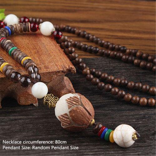 Collier de perles multi modèle bohème pendentifs Vintage ethnique bois fait main