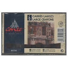 Conte LARGE Carres Crayons Set - 6 x Bistre