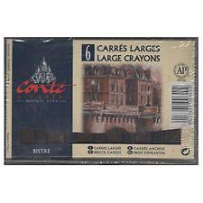 Conte LARGE Carres Crayons Set - 6 x Bistre