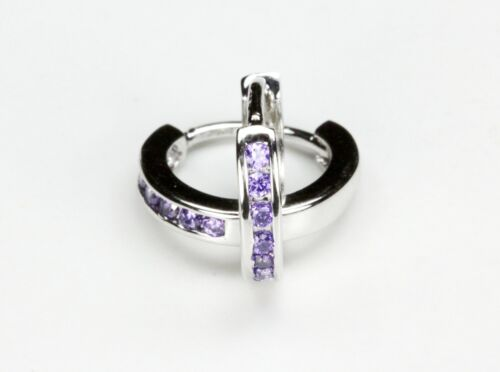 STUNNING AMETHYST HUGGIES FOR BABY/'S 10mm .925 STERLING SILVER US SELLER
