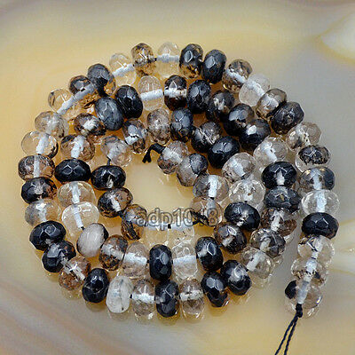 5x8mm Faceted  Natural Gemstones Rondelle Spacer Loose Beads 15'' Strand