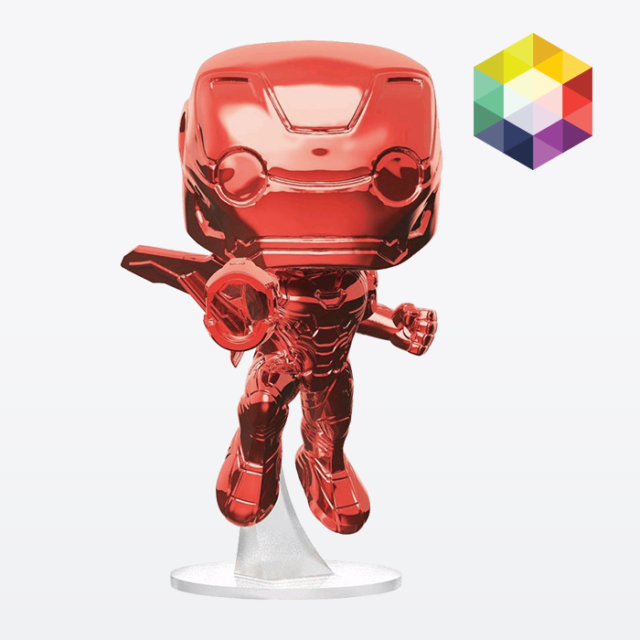 FUNKO POP! Vinyl Iron Man Avengers Infinity War Red Chrome #285 Exclusive