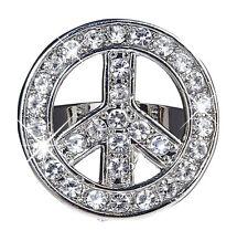 Love & Peace Strass Ring NEU - Zubehör Accessoire Karneval Fasching
