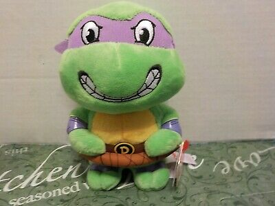 "Ty Beanie Babies 6/"" TMNT Teenage Mutant Ninja Turtles DONATELLO NWT K1"