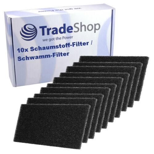 10x materiale espanso-Filtro per BAUKNECHT TK SPORT 2012 TK Uniq 72a di 73a di 82a FLD