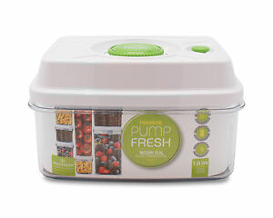 Pioneer Pump Fresh Vacuum Food Storage Container Box Jar White