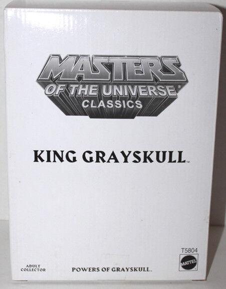 HE MAN MOTUC CLASSICS KING GrisSKULL W/bianca  BOX   T5804  SEALED NEVER REMOVED